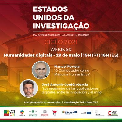 Webinar Humanidades digitais – 28 de maio, 15h (16h em Espanha)