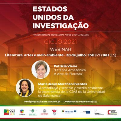 Webinar Literatura, artes e meio ambiente – 30 de julho 15h (PT) 16h (ES)