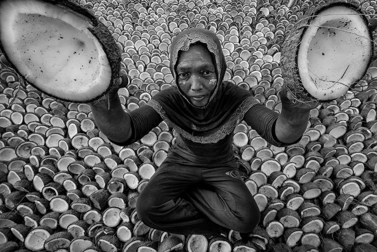 Portrait f the copra farmer